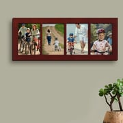 AdecoTrading 4 Opening Wall Hanging Picture Frame; Walnut