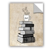 ArtWall Halloween Books and Coffee by Amy Cummings Wall Mural; 18'' H x 14'' W x 0.1'' D