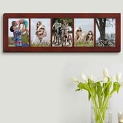 AdecoTrading 5 Opening Wall Hanging Picture Frame; Walnut