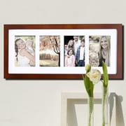 AdecoTrading 4 Opening Decorative Hanging Picture Frame; Walnut