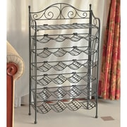 International Caravan Mandalay 24 Bottle Hanging Wine Rack; Pewter