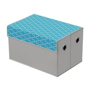 Bintopia Storage Box; Heather Gray/Cyan Blue