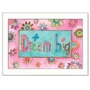 Trendy Decor 4U Dream Big by Bernadette Deming Framed Painting Print