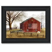 Trendy Decor 4U Flag Barn by Billy Jacobs Framed Painting Print; 18'' H x 14'' W x 2'' D