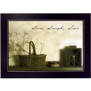 Trendy Decor 4U Live, Laugh and Love by Billy Jacobs Framed Photographic Print