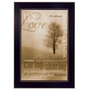 Trendy Decor 4U It's About Love by Marla Rae Framed Painting Print