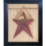 Trendy Decor 4U Welcome Barn Star Mary June Framed Painting Print