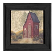 Trendy Decor 4U Folk Art Outhouse by Pam Britton Framed Painting Print
