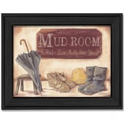 Trendy Decor 4U Muddy Shoes by Pam Britton Framed Painting Print