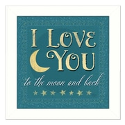 Trendy Decor 4U I Love You by Mollie B. Framed Textual Art