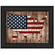 Trendy Decor 4U America the Beautiful by Mollie B. Framed Painting Print