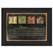 Trendy Decor 4U In Our Home by Marla Rae Framed Textual Art; 10'' H x 14'' W x 2'' D
