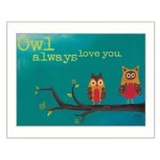 Trendy Decor 4U Owl Always Love You by Marla Rae Framed Painting Print