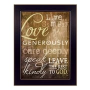 Trendy Decor 4U Live Simply by Marla Rae Framed Textual Art