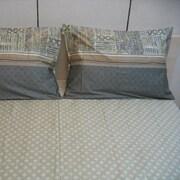 DaDa Bedding Checkered 200 Thread Count Cotton Sheet Set; King