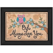 Trendy Decor 4U Owl Always Love You by Annie Lapoint Lapoint Framed Painting Print