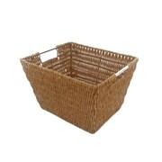MImo Style Homegoods Javanese Medium Wicker Basket w/Stainless Steel Handle; 8'' H x 12'' H x 10'' D