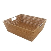 MImo Style Homegoods Javanese Medium Wicker Basket w/Stainless Steel Handle; 5'' H x 15'' W x 13'' D