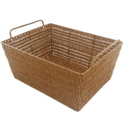 MImo Style Homegoods Javanese Style Plastic Wicker Basket w/Metal Frame; 7.5'' H x 17'' W x 13'' D