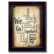 Trendy Decor 4U We Go Together I by Susan Ball Framed Textual Art