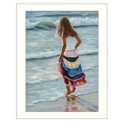 Trendy Decor 4U The Striped Skirt by Georgia Janisse Framed Painting Print