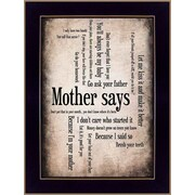 Trendy Decor 4U Mother Says by Susan Ball Framed Textual Art