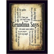Trendy Decor 4U Grandma Says by Susan Ball Framed Textual Art