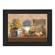 Trendy Decor 4U Antique Kitchen by Ed Wargo Framed Painting Print; 10'' H x 14'' W x 2'' D