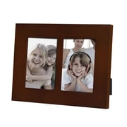 AdecoTrading 2 Opening Decorative Picture Frame; Walnut