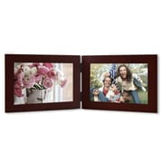 AdecoTrading 2 Opening Decorative Table Top Picture Frame; Walnut