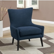 A&J Homes Studio High Back Arm Chair; Navy Denim