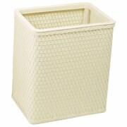Redmon Chelsea 2 Gallon Wicker/Rattan Trash Can; Cream