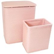 Redmon for Kids Chelsea Wicker Nursery Hamper and Matching Wastebasket; Tea Rose