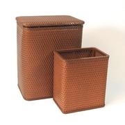 Redmon for Kids Chelsea Wicker Nursery Hamper and Matching Wastebasket; Nutmeg