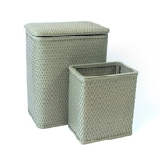 Redmon for Kids Chelsea Wicker Nursery Hamper and Matching Wastebasket; Sage Green