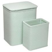 Redmon for Kids Chelsea Wicker Nursery Hamper and Matching Wastebasket; Herbal Green