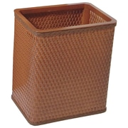 Redmon Chelsea Decorator Square Wicker Wastebasket; Nutmeg