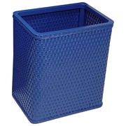 Redmon Chelsea Decorator Square Wicker Wastebasket; Black