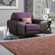 Hokku Designs Sona Chair; Grape / Espresso