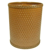 Redmon Chelsea Decorator Round Wicker Wastebasket; Nutmeg