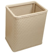 Redmon Chelsea Decorator Square Wicker Wastebasket; Mocha