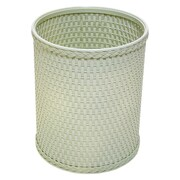 Redmon Chelsea 2.6 Gallon Wicker/Rattan Trash Can; Herbal Green