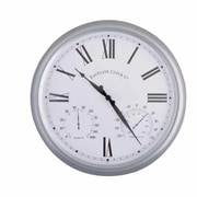EsschertDesign World of Weather 15'' Roman Numerals Outdoor Clock