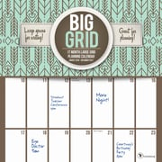 "2017 TF Publishing 12"" x 12"" Big Grid: Design Wall Calendar 17 Month (17-1087)"