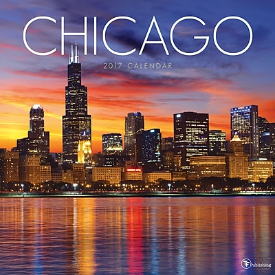 """""2017 TF Publishing 12"""""""" x 12"""""""" Chicago Wall Calendar (17-1165)"""""" 2229630"