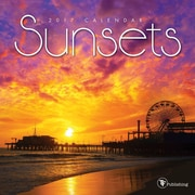 "2017 TF Publishing 7"" x 7"" Sunsets Mini Calendar  (17-2095)"