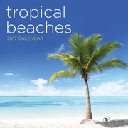 "2017 TF Publishing 7"" x 7"" Tropical Beaches Mini Calendar  (17-2097)"