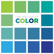 """2017 TF Publishing 5.5"""" x 5.5"""" For the Love of Color Daily Desktop Calendar  (17-3048)"""