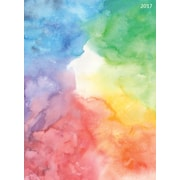 """2017 TF Publishing 10.25"""" x 7.5"""" Watercolor Tie-Dye Simplicity Planner 12 Month (17-4220)"""