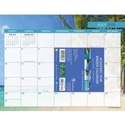 "2017 TF Publishing 8.5"" x 11"" Tropical Beaches Binder Calendar Academic Year (17-6097A)"